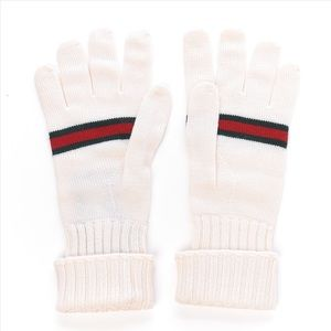 Gucci Wool Web Large Gloves